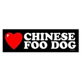 CHINESE FOO DOG Bumper Bumper Sticker