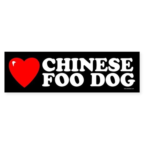 CHINESE FOO DOG Bumper Sticker