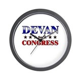 DEVAN for congress Wall Clock