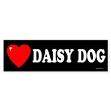 DAISY DOG Bumper Bumper Sticker