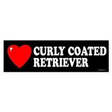 CURLY COATED RETRIEVER Bumper Bumper Sticker