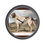 Antique St Bernard Smooth Dog Wall Clock