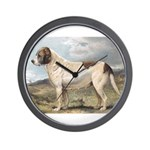 Antique St Bernard Smooth Dog Portrait Wall Clock
