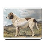 Antique St Bernard Smooth Dog Portrait Mousepad