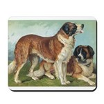 Antique St Bernard Rough Dog Portrait Mousepad