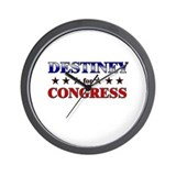 DESTINEY for congress Wall Clock