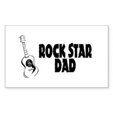 Rock Star Dad Rectangle Decal