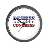 DESIREE for congress Wall Clock