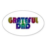 Grateful Dad Oval Decal