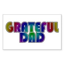 Grateful Dad Rectangle Decal