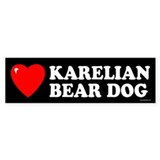 KARELIAN BEAR DOG Bumper Car Sticker