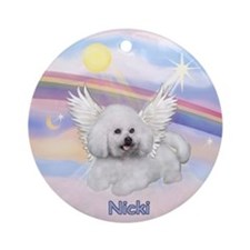 Bichon Nicki Angel (#2) Ornament (Round)
