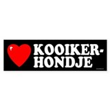 KOOIKERHONDJE Bumper Car Sticker