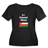 #1 Omani Mom Women's Plus Size Scoop Neck Dark T-S
