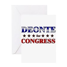 DEONTE for congress Greeting Card