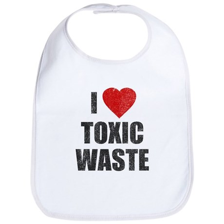 I Love [Heart] Toxic Waste Bib