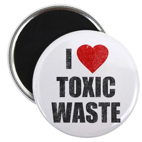I Love [Heart] Toxic Waste Magnet
