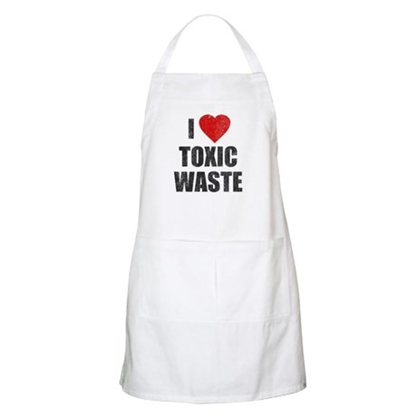 I Love [Heart] Toxic Waste BBQ Apron