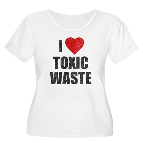 I Love [Heart] Toxic Waste Womens Plus Size Scoop
