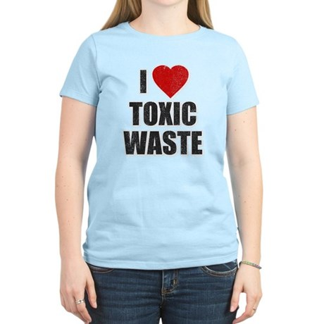I Love [Heart] Toxic Waste Womens Light T-Shirt