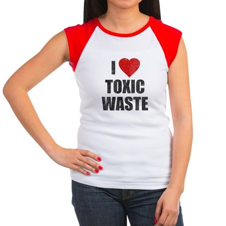 I Love [Heart] Toxic Waste Womens Cap Sleeve T-Sh