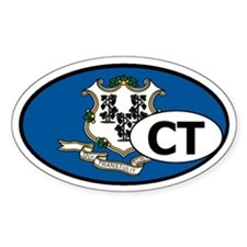 Connecticut State Flag Oval Decal
