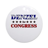 DENZEL for congress Ornament (Round)