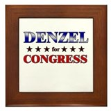 DENZEL for congress Framed Tile