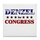DENZEL for congress Tile Coaster