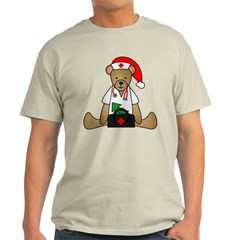 Christmas Nurse Bear Light T-Shirt
