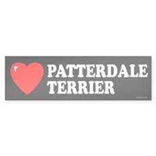 PATTERDALE TERRIER Bumper Car Sticker