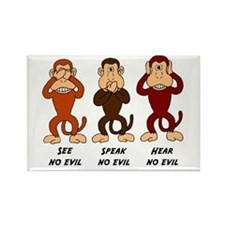 See Speak Hear No Evil Rectangle Magnet