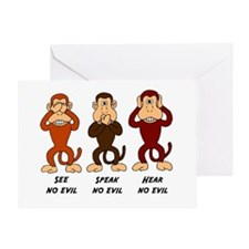 See Speak Hear No Evil Greeting Card