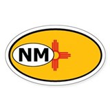 New Mexico State Flag Oval  Aufkleber