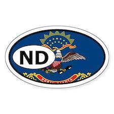 North Dakota State Flag Oval Decal