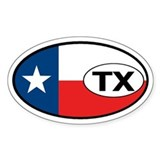 Texas State Flag Oval Decal