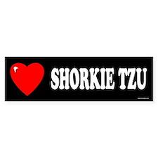 SHORKIE TZU Bumper Bumper Sticker