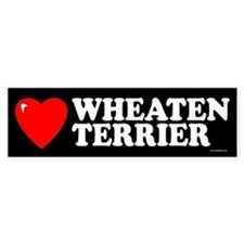 WHEATEN TERRIER Bumper Car Sticker