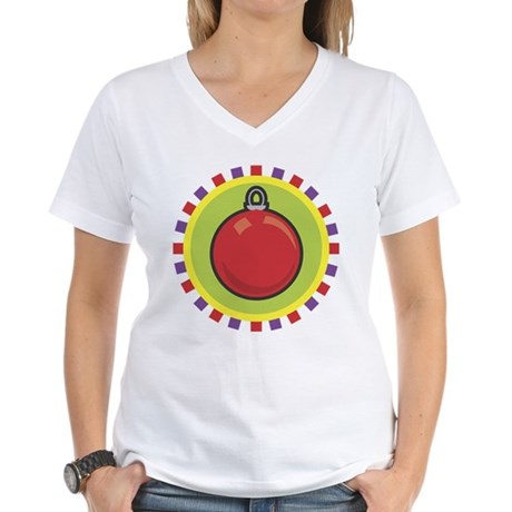 Christmas Ornament Women's V-Neck T-Shirt