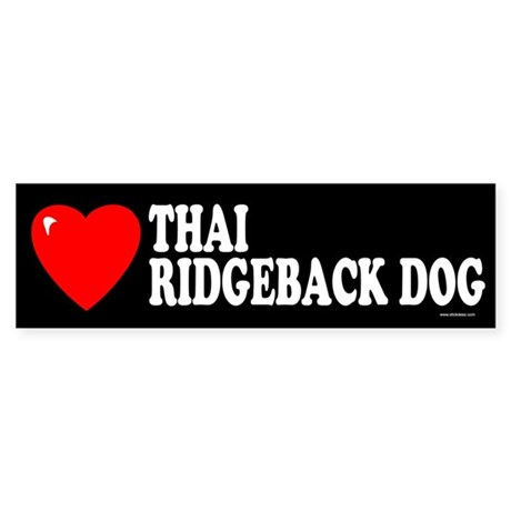 THAI RIDGEBACK DOG Bumper Sticker