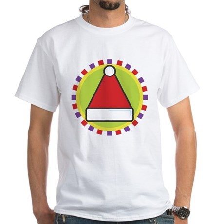 Santa Hat White T-Shirt