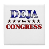 DEJA for congress Tile Coaster