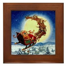 """Merry Christmas To All"" Framed Tile"