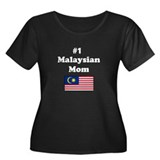#1 Malaysian Mom Women's Plus Size Scoop Neck Dark