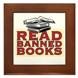 Read banned books - Framed Tile