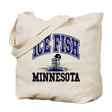 Ice Fish Minnesota Tote Bag