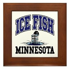Ice Fish Minnesota Framed Tile