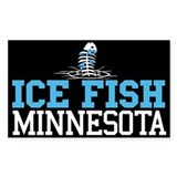 Ice Fish Minnesota Rectangle Bumper Stickers