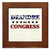 DEANDRE for congress Framed Tile