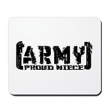 Proud Army Niece - Tatterd Style Mousepad